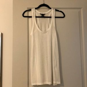 White racer back tank